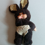 Vintage 1980s Sekiguchi Mon Chi Chi thumb Sucking Chic A Boo ? Rabbit@sold@
